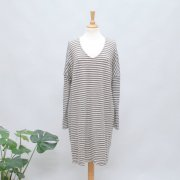 BY BASICS Kleid raw white/earth melange