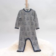 ME TOO Baby Overall Ursula, Wolle/Bambus, Farbe navy-grau