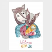 Postkarte Welcome little one