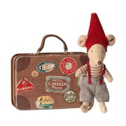 MAILEG - Christmas mouse in suitcase, Little brother