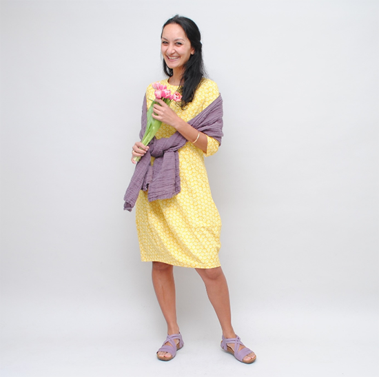Gelbdes Kleid